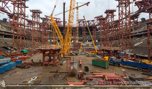 Процесс строительства. Готовность на сентябрь 2014 года