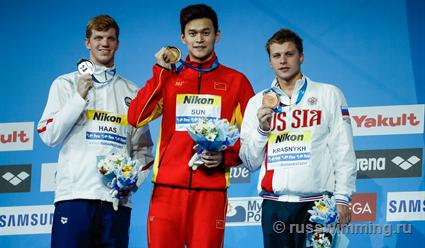 Александр Красных завоевал бронзу на дистанции 200 метров вольным стилем на ЧМ-2017 в Будапеште (видео)