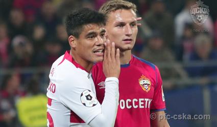 ЦСКА и «Спартак» сыграли вничью в матче чемпионата Россия по футболу (видео)