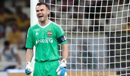 Вратарь ЦСКА Игорь Акинфеев не пропустил в Лиге чемпионов впервые с 2006 года