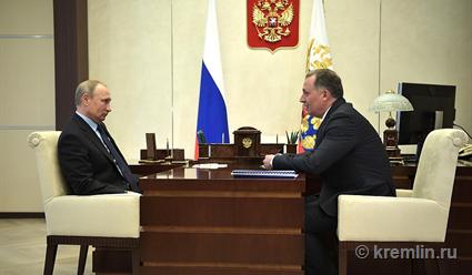 Владимир Путин провёл рабочую встречу с президентом ОКР Станиславом Поздняковым