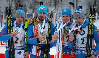 Российские биатлонисты уступили золото сборной Норвегии на финише эстафеты в Рупольдинге (видео)