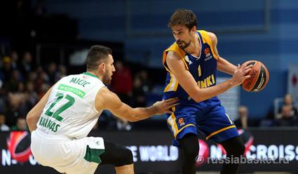 Баскетболисты «Химок» победили «Жальгирис» в матче 2-го тура Евролиги (видео)