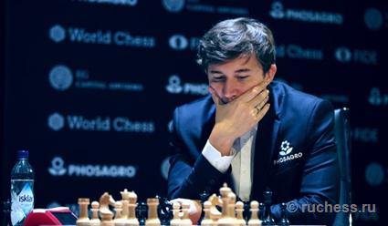 Сергей Карякин занимает шестое место после первого круга в блице на этапе Гран-тура по шахматам в США