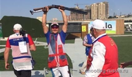Виталий Фокеев выиграл чемпионат Европы по стендовой стрельбе в дабл-трапе