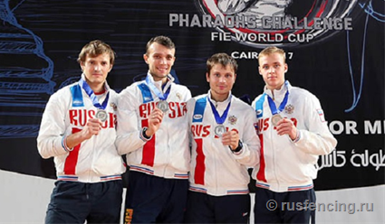 В командном турнире этапа Кубка мира в Каире российские рапиристы завоевали серебро