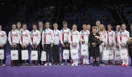В рамках турнира «ВТБ Кубок Кремля» состоялось вручение премий молодым перспективным теннисистам