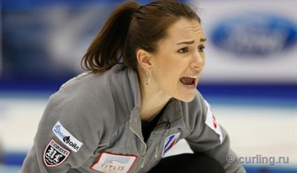 Российские керлингистки одержали первую победу на чемпионате Европы  в Швейцарии