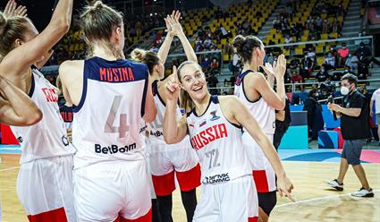 Российские баскетболистки вышли в четвертьфинал чемпионата Европы