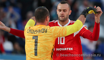 Сборная России по пляжному футболу разгромила Эстонию и вышла в 1/8 финала отбора ЧМ-2019