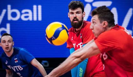 Сборная России обыграла команду Бразилии в матче Лиги наций по волейболу