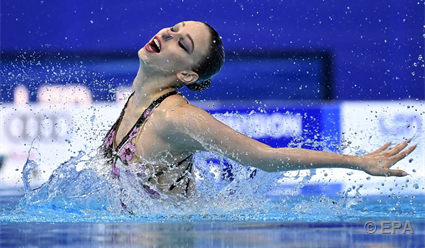 Синхронистка Субботина завоевала золото чемпионата Европы в произвольной программе соло