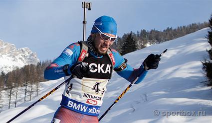 Александр Логинов финишировал вторым в гонке преследования на этапе Кубка мира по биатлону