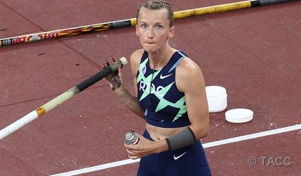 Анжелика Сидорова стала серебряным призером Игр Олимпиады в прыжках с шестом