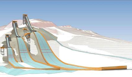 В Красноярске началось строительство трех трамплинов для лыжников