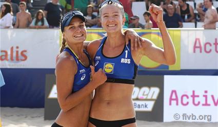 «Пляжницы» Надежда Макрогузова и Светлана Холомина выиграли этап Мирового тура в Эшпинью