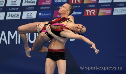 Гурбанбердиева и Мальцев завоевали золото на этапе Мировой серии по синхронному плаванию