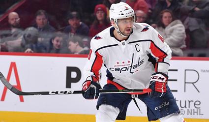 Форвард «Вашингтона» Александр Овечкин оформил хет-трик и стал первой звездой игрового дня в НХЛ