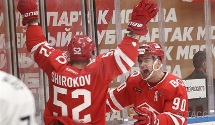 Московский «Спартак» одержал в КХЛ пятую победу подряд
