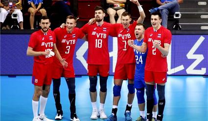 Российские волейболисты обыграли команду Германии в матче Лиги наций